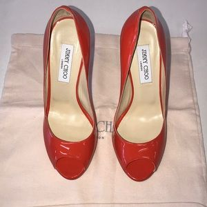 Tangerine/Orange Jimmy Choo heels